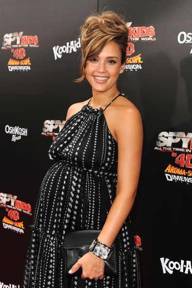"Jessica Alba Actress Jessica Alba arrives at ""Spy Kids: All The Time In The World 4D"" Los Angeles premiere at the Regal Cinemas L.A. Live on July 31, 2011 in Los Angeles, California."