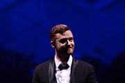 Justin Timberlake performs on stage at Barclays Center on December 14, 2014 in the Brooklyn borough of New York City.