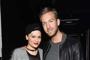Jessie J (L) and Calvin Harris attend KISS 108's Jingle Ball 2014, presented by Market Basket Supermarkets at TD Garden on December 14, 2014 in Boston, Massachusetts.