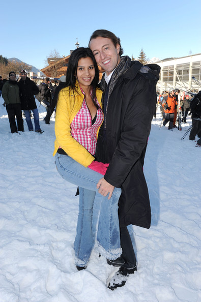Nina Bruckner (Bambi) and Mario - Max Prinz zu Schaumburg - Lippe attend the Kitzbuehel Charity Race on January 23, 2010 in Kitzbuehel, Austria.