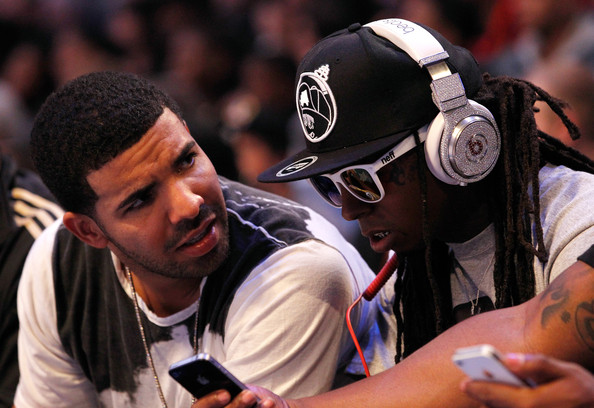 Lil Wayne and Drake - 2012 NBA All-Star Game