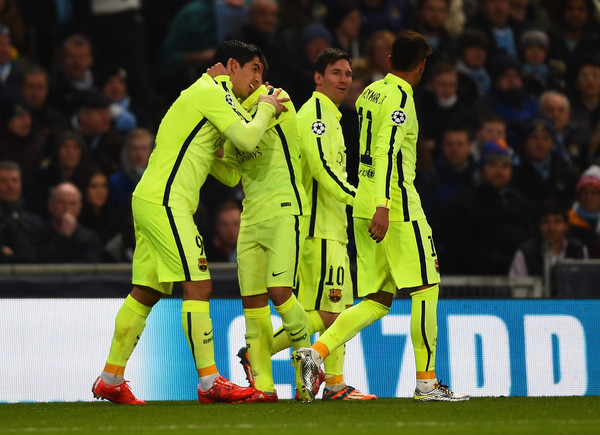Luis Suarez - Manchester City v Barcelona - UEFA Champions League Round of 16