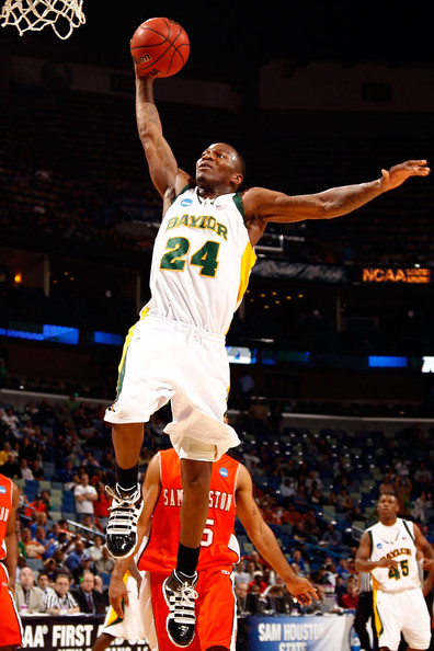 Lacedarius Dunn LaceDarius Dunn #24 of the Baylor Bears dunks the ball against the Sam Houston State Bearkats during the first round of the 2010 NCAA men's basketball tournament at the New Orleans Arena on March 18, 2010 in New Orleans, Louisiana. Baylor defeated Sam Houston State 68-59.