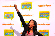 """Actress Sydney Park of """"Instant Mom"""" attends Nickelodeon's 11th Annual Worldwide Day of Play at Prospect Park on September 20, 2014 in New York City."""