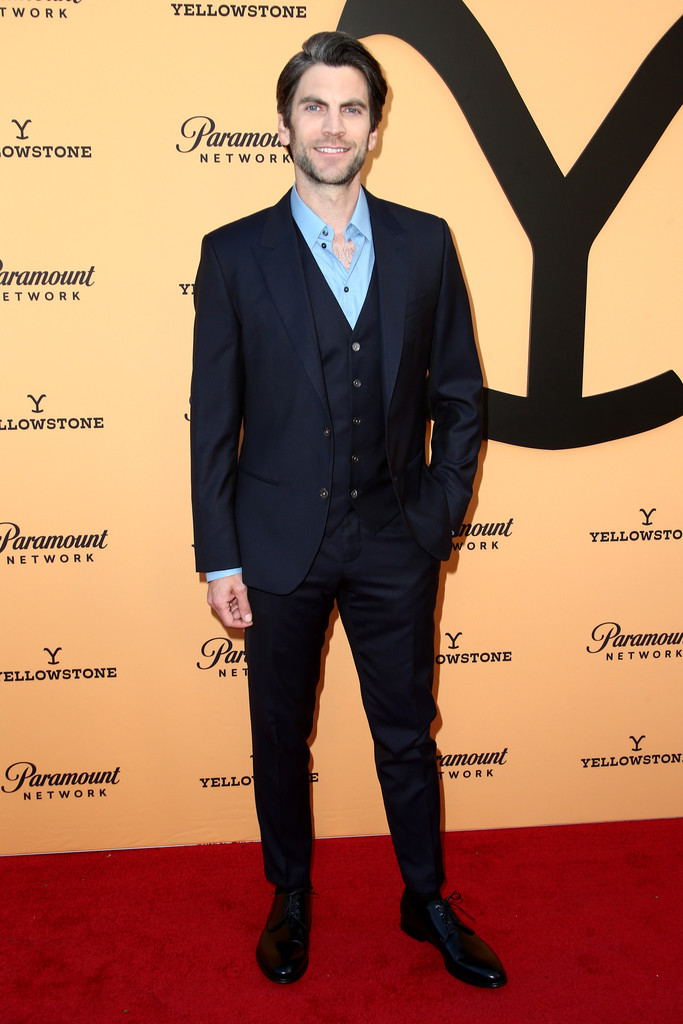 Suited and booted : Wes Bentley attends the Premiere Party