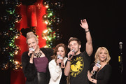 (L-R)  Bethany Watson, Danielle Monaro, Jake Miller and Carla Marie speak onstage at the Q102's Jingle Ball 2014 at Wells Fargo Center on December 10, 2014 in Philadelphia, Pennsylvani
