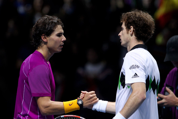 Rafael Nadal and Andy Murray - ATP World Tour Finals - Day Seven
