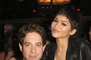Republic Records EVP Charlie Walk and recording artist Zendaya attend the Republic Records / Big Machine Label Group Grammy Celebration on February 8, 2015 in Hollywood, California.