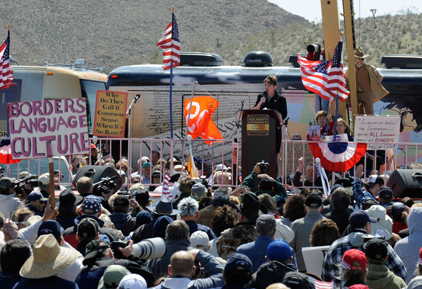 Sarah Palin - Large Tea Party Rally Held In Sen. Harry Reid's Hometown Of Searchlight, NV