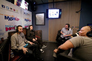 (L-R) Kalin White, Myles Parrish, Ryan Sampson, Stanley T, Rich Davis and Nicole Ryan attend Hits 1's The Morning Mash Up Broadcast from the SiriusXM Studios on February 10, 2015 in Los Angeles, California.