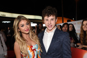 Actors Sarah Hyland (L) and Nolan Gould attend 'TrevorLIVE LA' Honoring Robert Greenblatt, Yahoo and Skylar Kergil for The Trevor Project at Hollywood Palladium on December 7, 2014 in Los Angeles, California.
