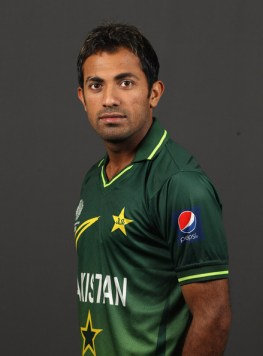 Wahab Riaz Wahab Riaz of Pakistan poses for a portrait during the Pakistan Portrait session at the Sheraton Hotel on February 13, 2011 in Dhaka, Bangladesh.