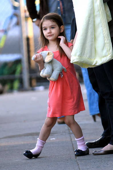 "Katie Holmes spends the day on the New York set of  ""Son of No One""  with her daughter Suri. In the movie, Katie stars opposite Channing Tatum who was also on set."
