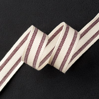 Blackberry Bliss 5/8 Striped Cotton Ribbon by Stampin' Up!