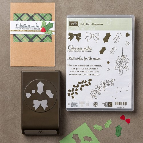 Holly Berry Happiness Bundle $54,75 (Stamp Set & Punch)
