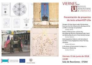 Presentación de proyectos de tesis urbanHIST-UVa