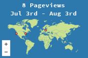 Ubicación de los que visitan el blog