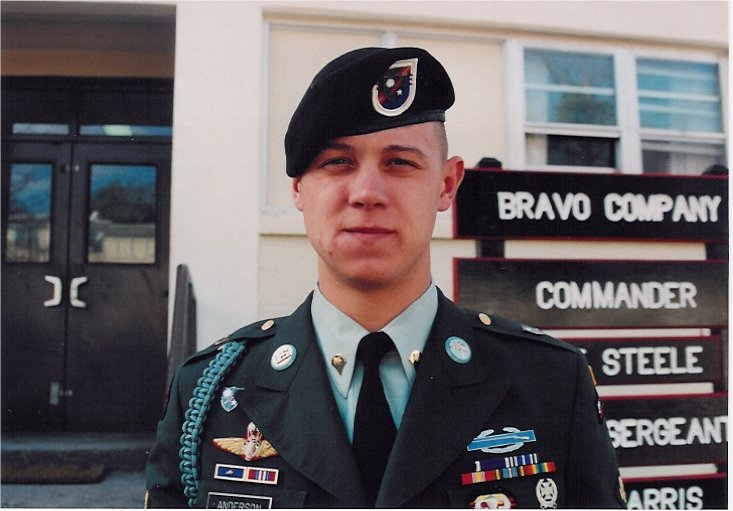 ... October 3-4 battle in Mogadishu. Thanks for serving Ranger Anderson