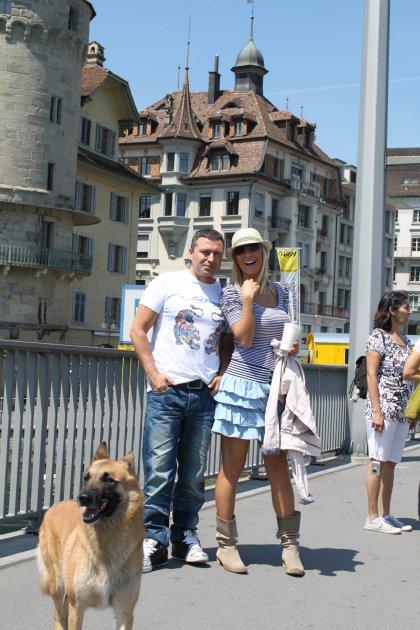 Djole i Vesna Djogani u Svajcarskoj na snimanju spota