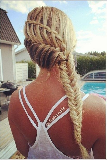 Waterfall Into Fishtail Braid Combo 22 Of The Prettiest