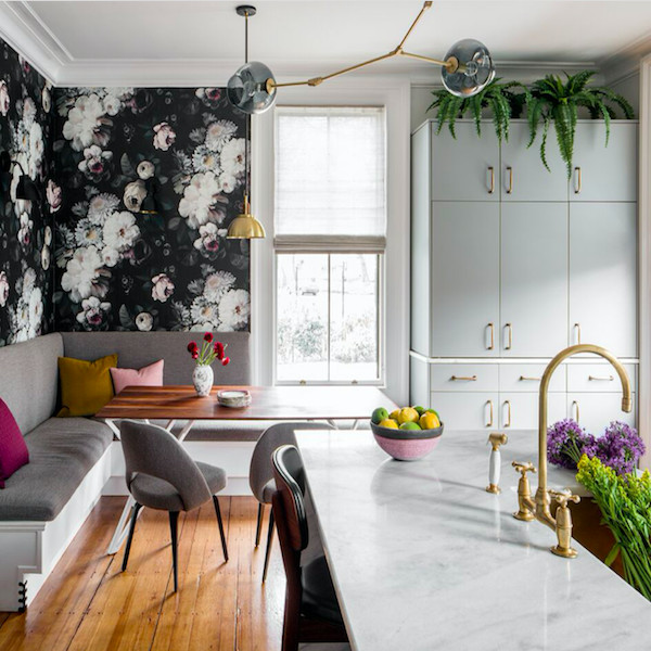 Wallpapered Kitchens That Wow