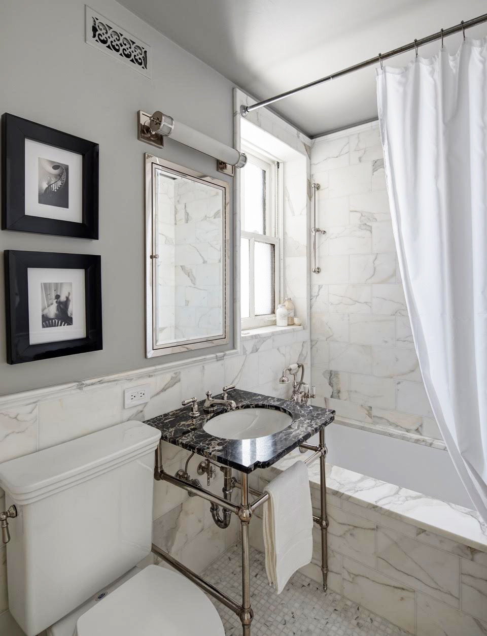5 Tips From an Elegant, Small-Space Bathroom - Decorating ... on Space Bathroom  id=23893