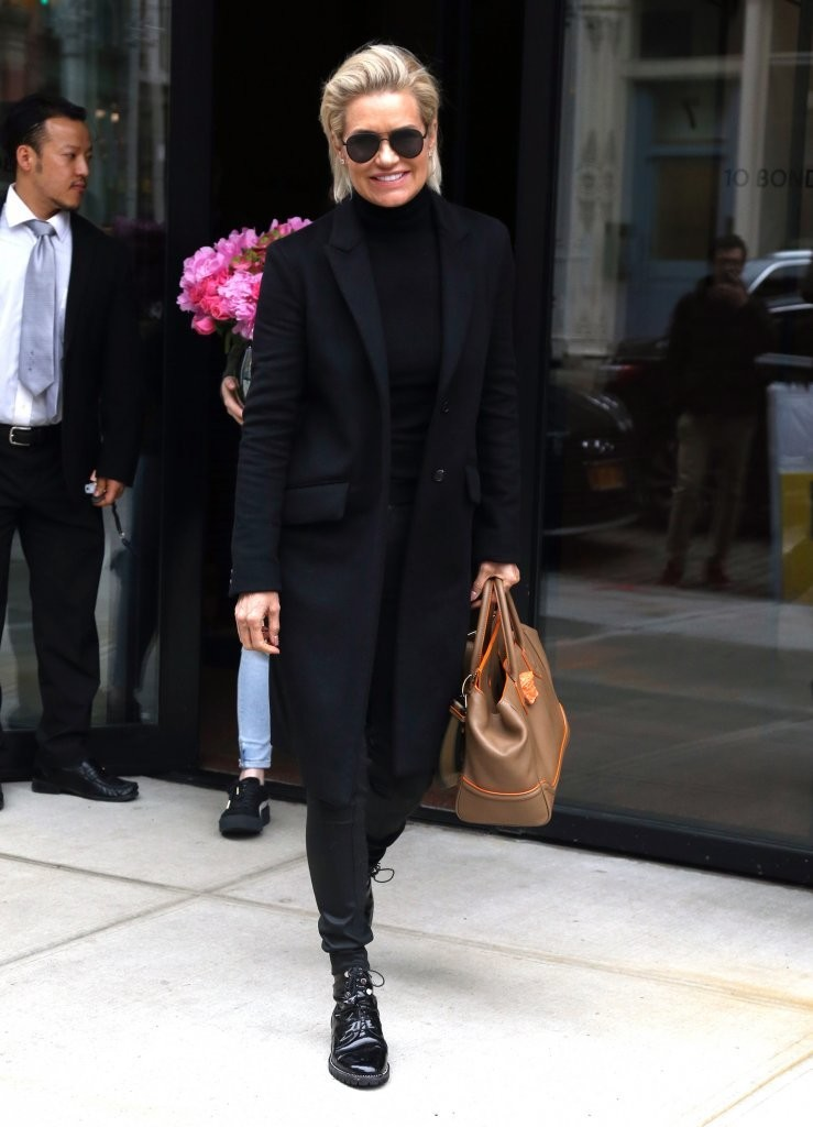 Yolanda Hadid Wool Coat Wool Coat Lookbook StyleBistro