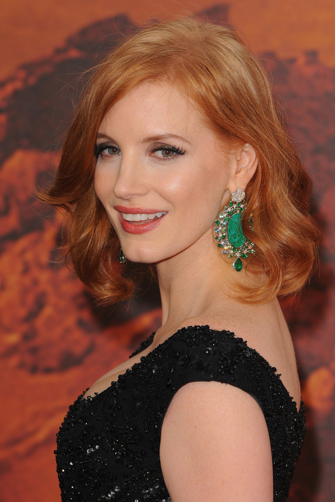 Jessica Chastain Short Wavy Cut Short Wavy Cut Lookbook