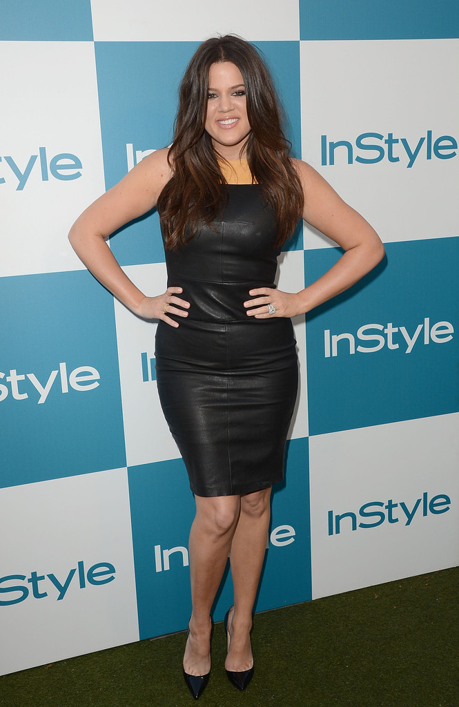 Khloe Kardashian Leather Dress Leather Dress Lookbook