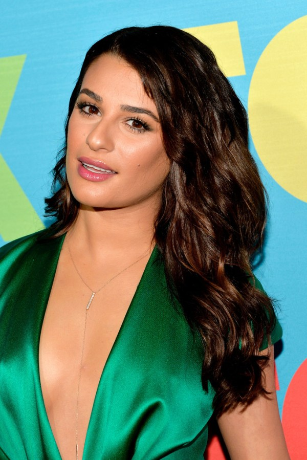 Lea Michele Long Wavy Cut - Lea Michele Looks - StyleBistro