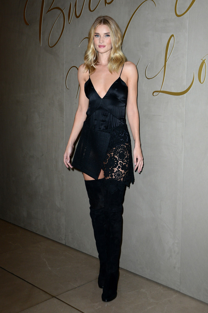 Rosie Huntington Whiteley Over The Knee Boots Over The