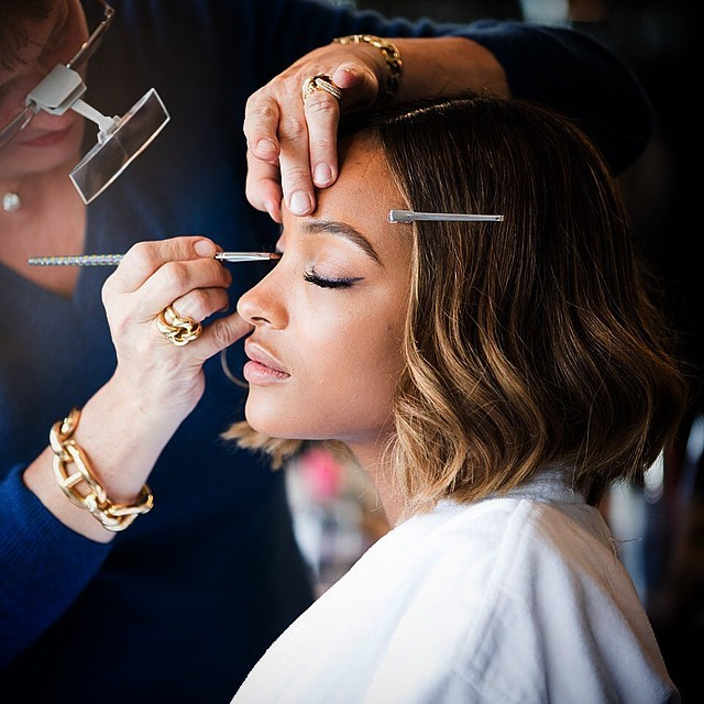 Jourdan Dunn Gets Her Makeup Done The Weeks Most