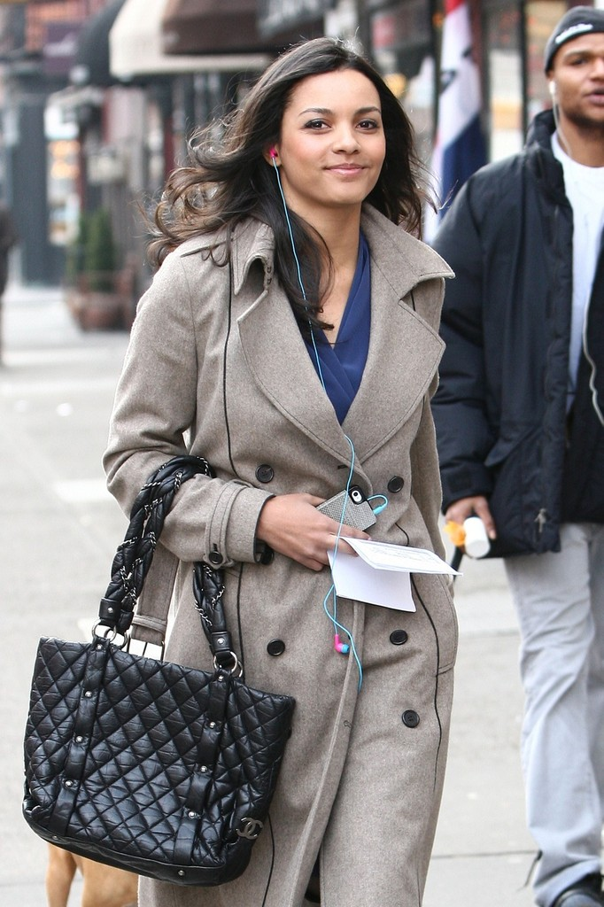 Jessica Lucas Quilted Leather Bag Jessica Lucas Looks
