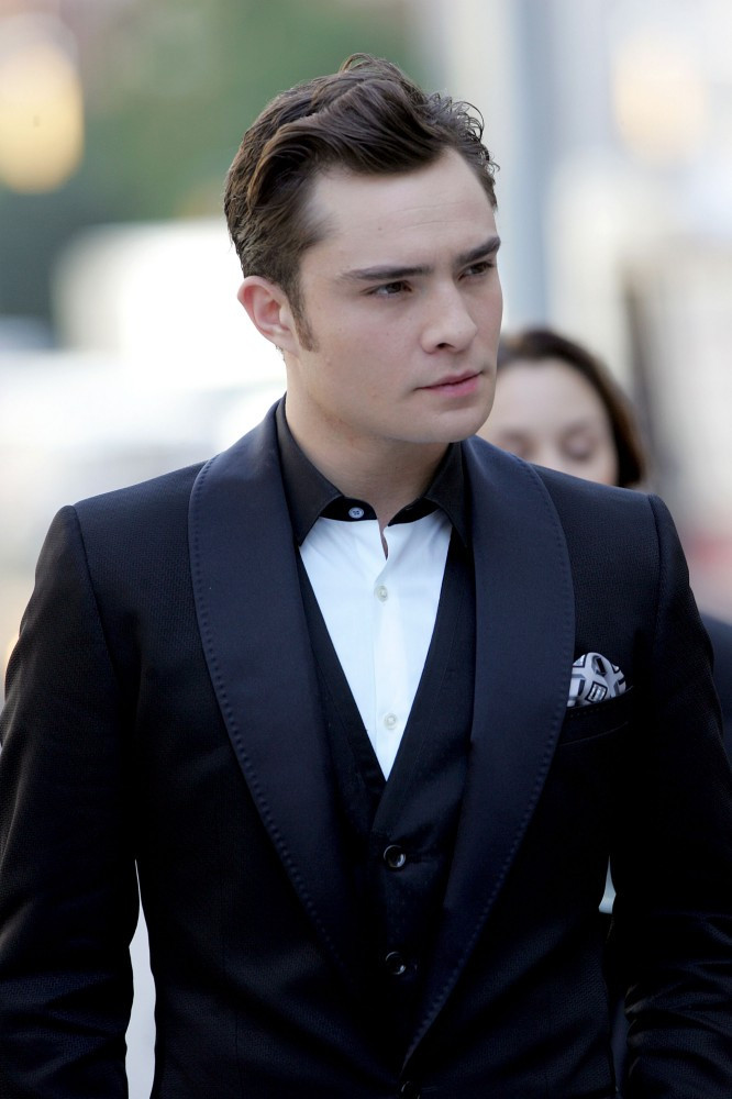 Ed Westwick Photos Gossip Girls Film At Lincoln Center