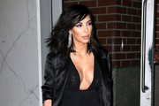 Reality star Kim Kardashian leaving her apartment in New York City, New York on February 15, 2015. Kim and her husband Kanye West had to celebrate Valentine's Day late last night because of their busy schedule during NY Fashion Week.