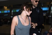 'Twilight' actress Kristen Stewart arriving on a flight at LAX airport in Los Angeles, California on February 18, 2015.