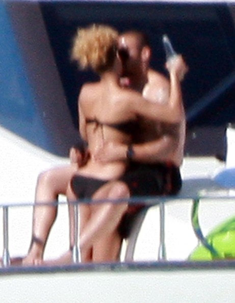 Singer Rihanna and Los Angeles Dodgers outfield Matt Kemp seen getting a little intimate on their rented yacht in Cabo San Lucas, Mexico.