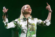 Singer Rita Ora performs onstage during 103.5 KISS FM's Jingle Ball 2014 at Allstate Arena on December 18, 2014 in Chicago, Illinois.