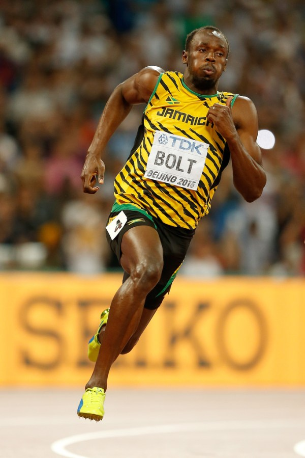 Usain Bolt in 15th IAAF World Athletics Championships ...