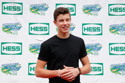 Shawn Mendes, music artist, smiles for a photo before performing during Arthur Ashe Kids' Day prior to the start of the 2014 U.S. Open at the USTA Billie Jean King National Tennis Center on August 23, 2014 in the Flushing neighborhood of Queens in New York City.