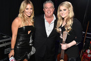 (L-R) Actress/recording artist Hilary Duff, radio personality Elvis Duran and recording artist Meghan Trainor attend the 2014 iHeartRadio Music Festival at the MGM Grand Garden Arena on September 20, 2014 in Las Vegas, Nevada.