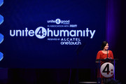 Actress Demi Lovato presents the Young Luminary Award onstage at the 2nd Annual unite4:humanity presented by ALCATEL ONETOUCH at the Beverly Hilton Hotel on February 19, 2015 in Los Angeles, California.