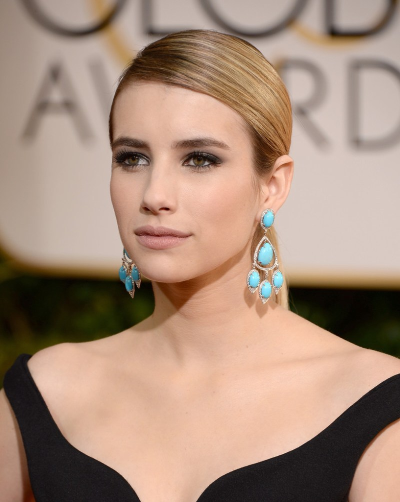 emma roberts red carpet perfect nude makeup