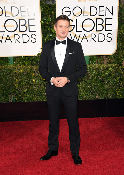 Actor Jeremy Renner attends the 72nd Annual Golden Globe Awards at The Beverly Hilton Hotel on January 11, 2015 in Beverly Hills, California.