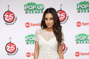 """Actress Shay Mitchell attends ABC's """"25 Days Of Christmas"""" Celebration at Cucina at Rockerfellar Center on December 7, 2014 in New York City."""