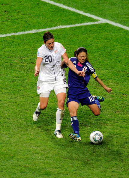 Abby Wambach and Homare Sawa - Japan v USA: FIFA Women's World Cup 2011 Final