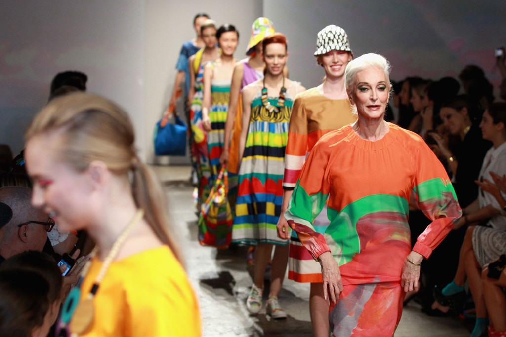Carmen Dell'Orefice - Marimekko - Runway - Spring 2013 Mercedes-Benz Fashion Week