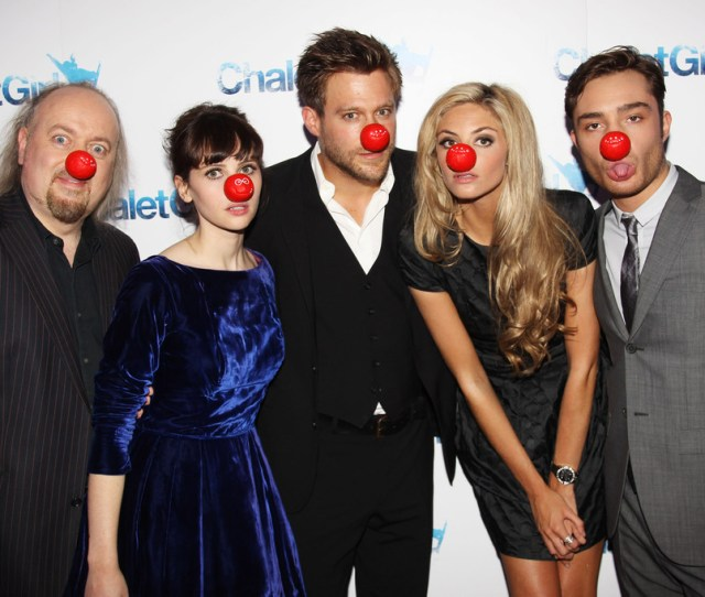 Ed Westwick And Felicity Jones Photos  The Cast Of Chalet Girl