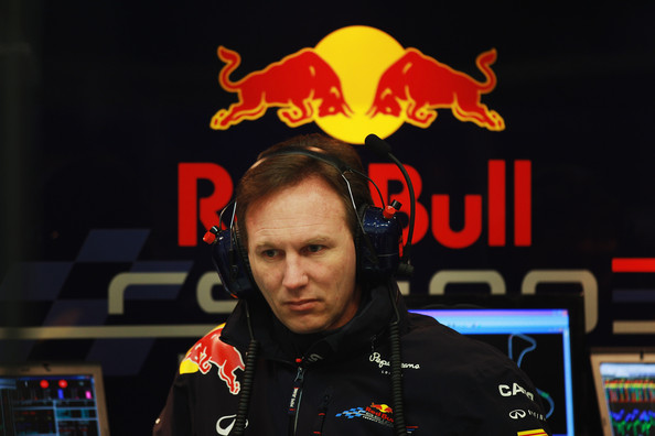 Christian Horner Red Bull Racing Team Principal Christian Horner is seen during day three of Formula One winter testing at the Circuito de Jerez on February 9, 2012 in Jerez de la Frontera, Spain.
