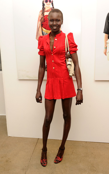 Model Alek Wek At Glastonbury Another Stage Book Party